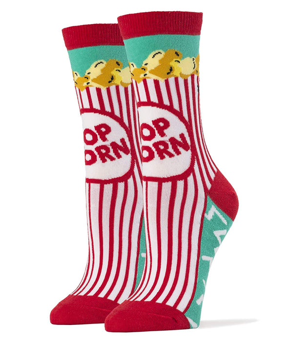 OoohYeah Socks - Womens Crew Box O Popcorn