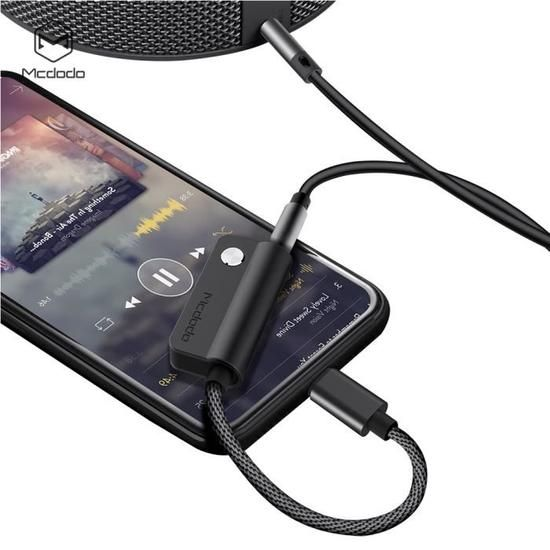 Mcdodo - Lightning Audio Adapter DC Cable 0.1M - Black