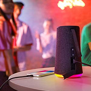 Anker - SoundCore Flare+ Huge 360 Sound Bluetooth LED Light, Waterproof - Black