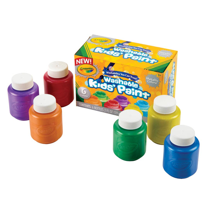 Crayola   - 6 Tubs Washable Kid's Paint