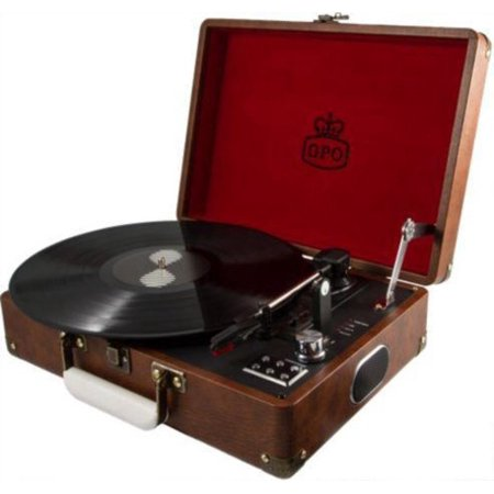 GPO Attache, Vinyl Record Player, Brown