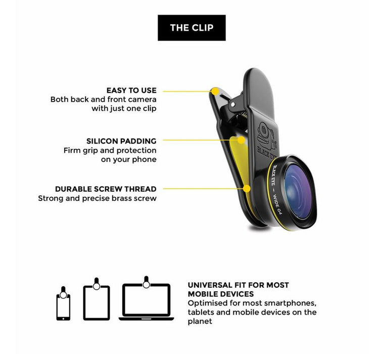 BlackEye - G4 and Macro G4 Smartphone Camera Lenses Travel Kit