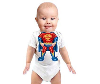 Just Add A Kid - Rompers Super Boy One Piece 12M