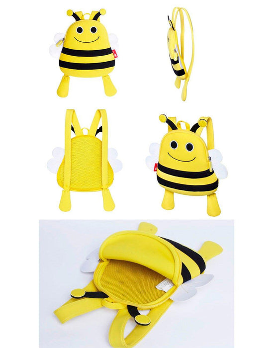 Nohoo - Mini Bee 3D Water Resistance Kids Backpack - 1 to 4 Years - Yellow