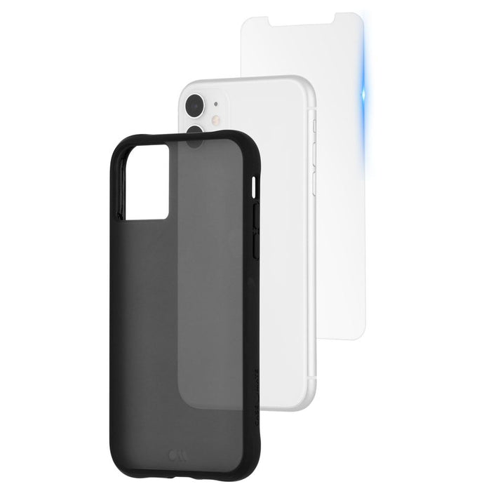 Case-Mate   - iPhone 11 Case & Screen Protector - Protection Pack - Tough Clear Case + Glass Screen Protector - Smoke