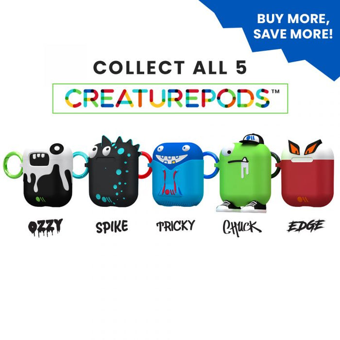 Case-Mate - Airpods Case - SPIKE CreaturePods - Silicone - Compatible with Apple Airpods Series 1 & 2