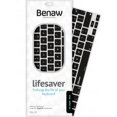 Benaw Lifesaver Keyboard For Macbook Air 11/13 And Pro 13/13R/15/15R - Uk - Black