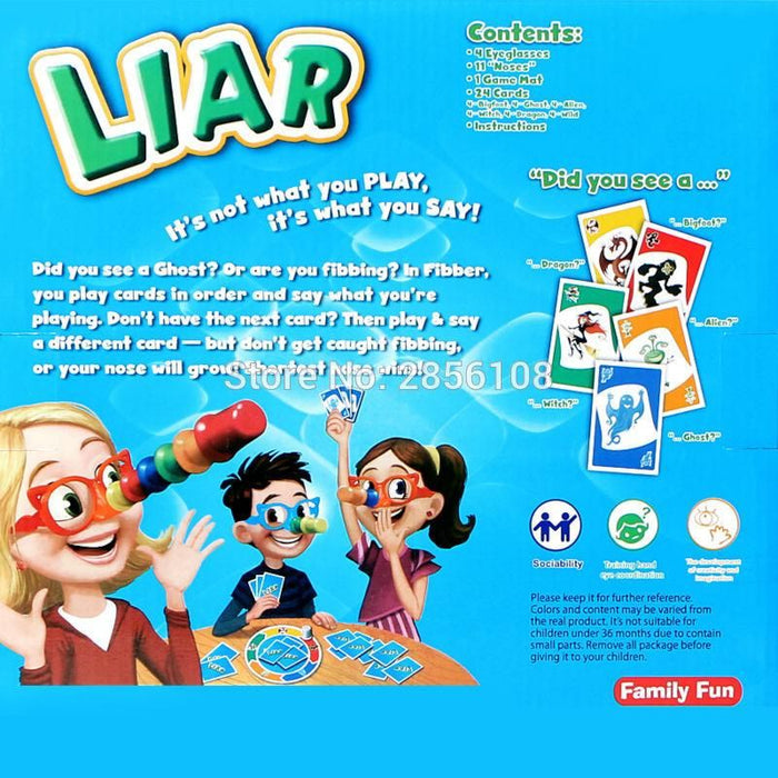 Liar   - Stretch the Truth & Your Nose May Grow Board Game