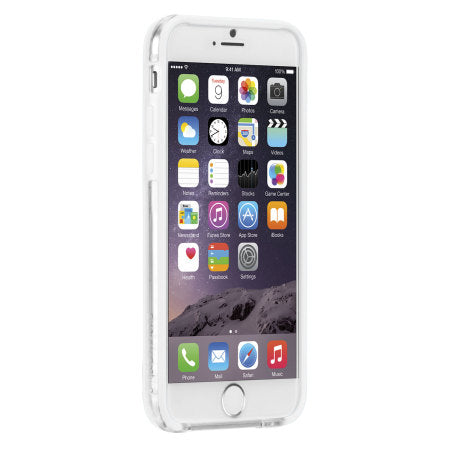 Case-Mate - iPhone 6 Tough Frame - Clear/White