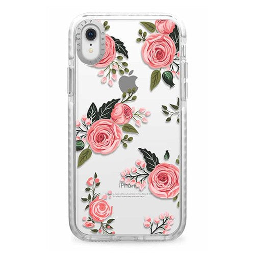Casetify - iPhone XR Impact Case Floral Roses - Pink