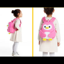 Nohoo - Penguin 3D Water Resistance Kids Backpack - 2 to 5 Years - Pink