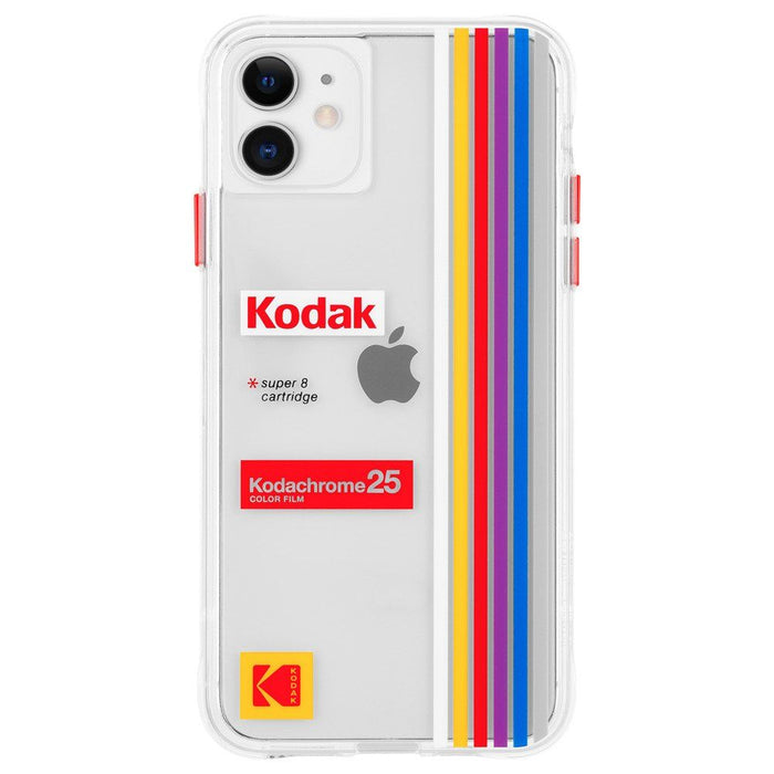 Case-Mate  - iPhone 11 Case - Kodak x Case-Mate Striped Kodachrome Super 8 Print Case