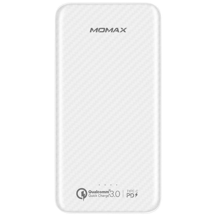 Momax - iPower 10,000mAh Minimal PD Quick Charge External Battery Pack - White