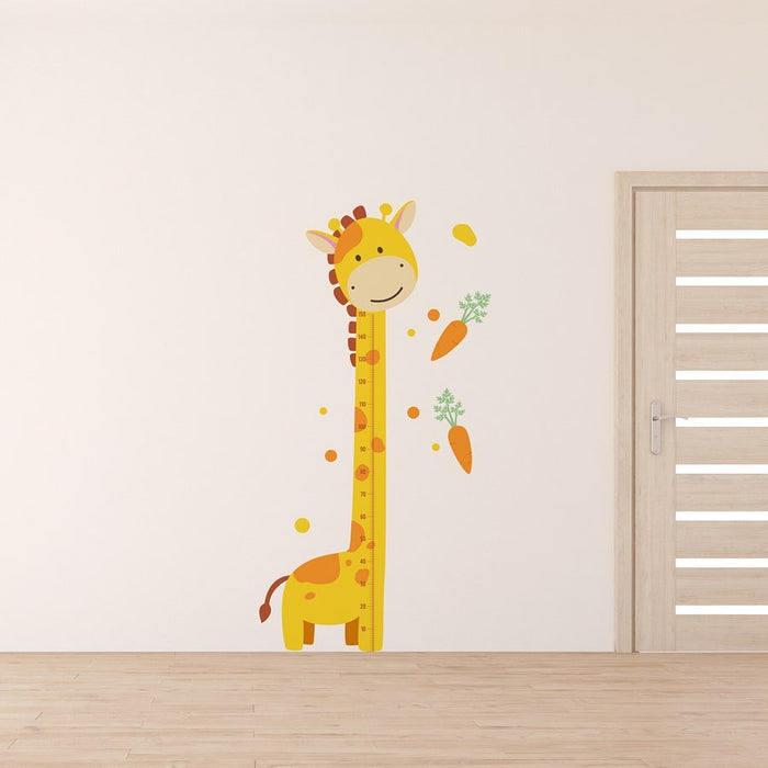 "Paper11   - Wall Decal ""Giraffe Growth Ruler"""