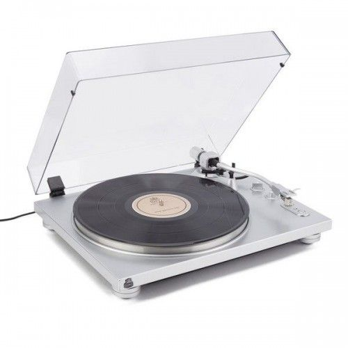 GPO PR100, Sleek, Minimalist Two Speed Turntable, Silver