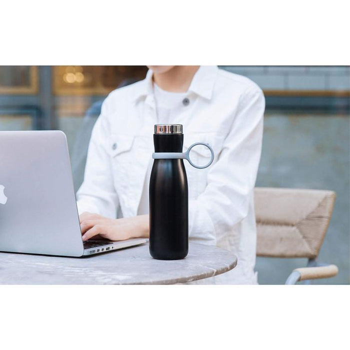 Qushini - Smart Bottle with Temperature Display & Drinking Reminder - Black