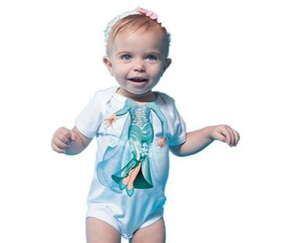 Just Add A Kid - Romper One-Piece Princess Snow - up to 12 Months