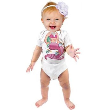 Just Add A Kid - Romper One-Piece Mermaid Pink - up to 12 Months