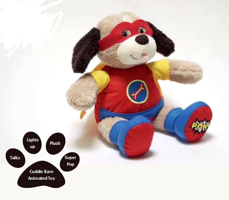 Cuddle Barn  - Musical Plush Superhero Dad Diggs the Power Pup 10""