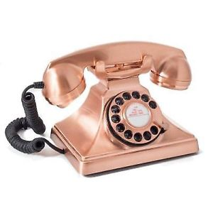 GPO 200 Classic, vintage telephone with rotary dial, Bronze