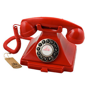 Gpo Carrington, Classic Retro Telephone, Red