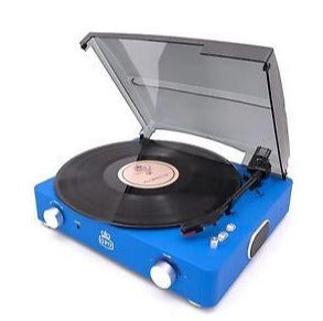 GPO Stylo, II Vinyl Record Player, Blue