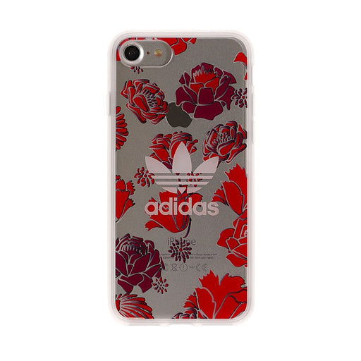 Adidas, iPhone 8&7 Originals clear case, Bohemian Red