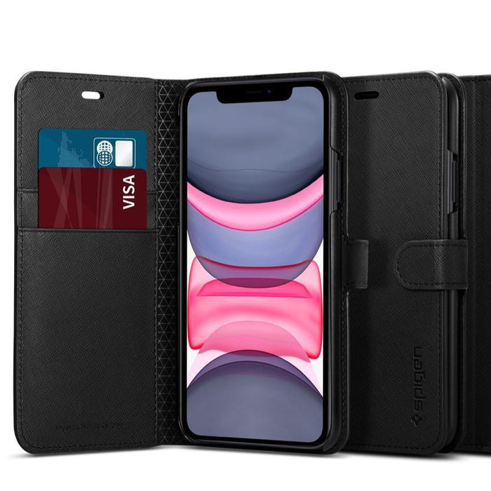 Spigen - iPhone XS Max Case Wallet S - Black
