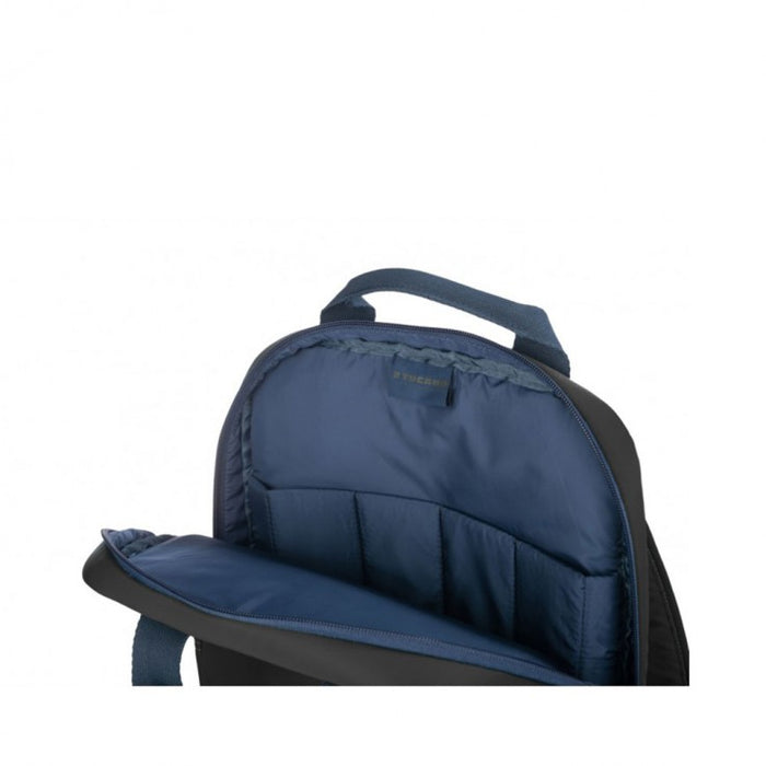 Tucano - Lux Backpack for 13'' & 14'' Laptops with Padded Shoulder & Trolley Strap - Dark Grey