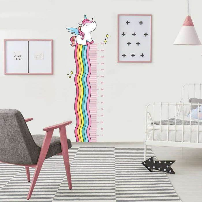 "Paper11   - Wall Decal ""Unicorn Growth Ruler"""