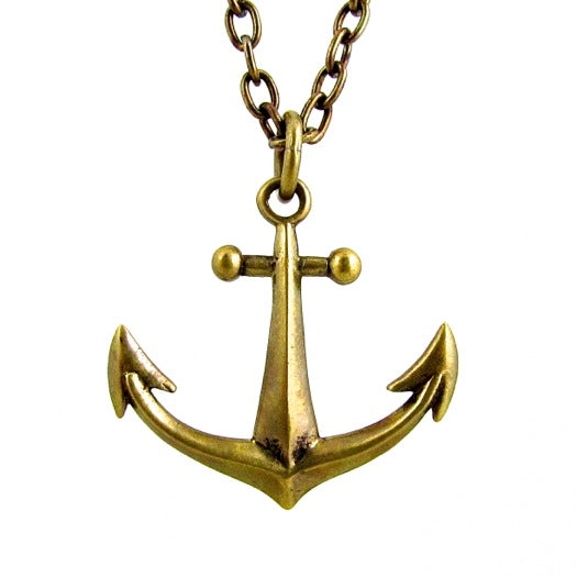 Custom Designer Anchor in Rock Star Brass By Dax Savage Jewelry