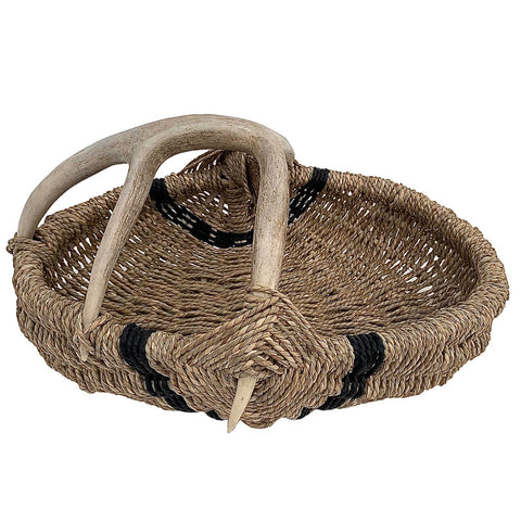 Custom Antler Basket A19 - Natural/Black Medium