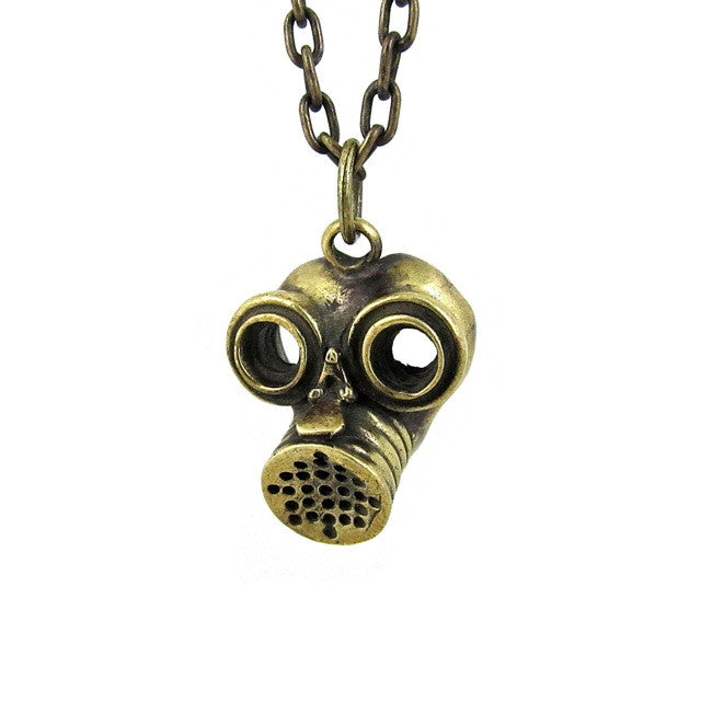 Custom Designer Gas Mask in Rock Star Brass by Dax Savage Jewelry