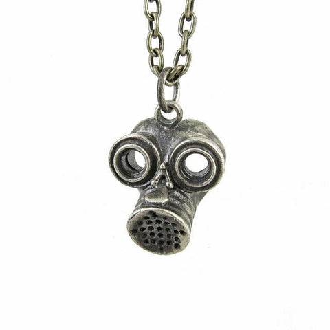 Gas Mask - white brass