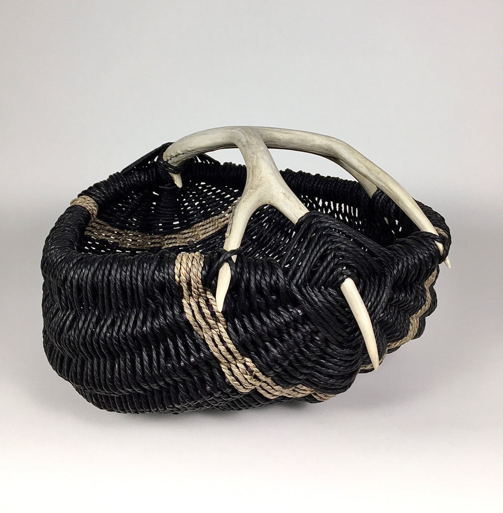 Custom Handmade Antler Basket and Functional Art Object for the home by LA Artist, Dax Savage