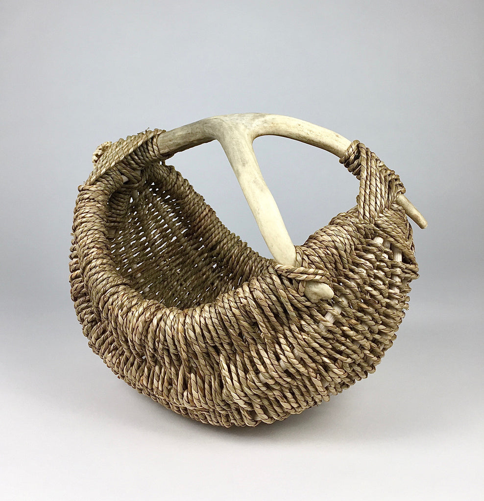 Custom Deer Antler Basket by Los Angeles Artist and Designer Dax Savage.