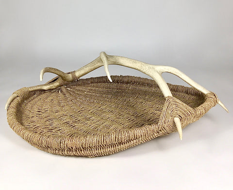 Custom Elk Antler Basket A10 - natural