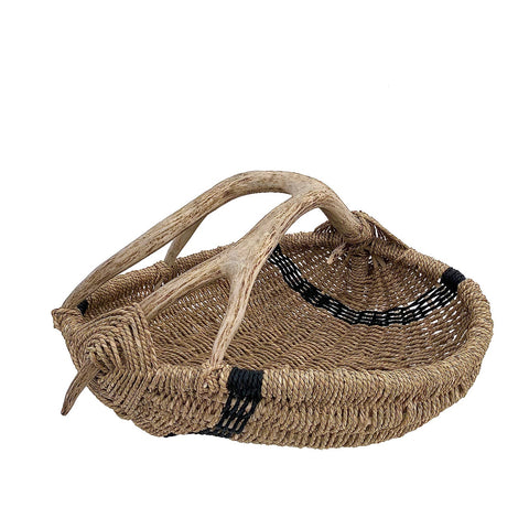Custom Antler Basket A17 - Natural/Black Large