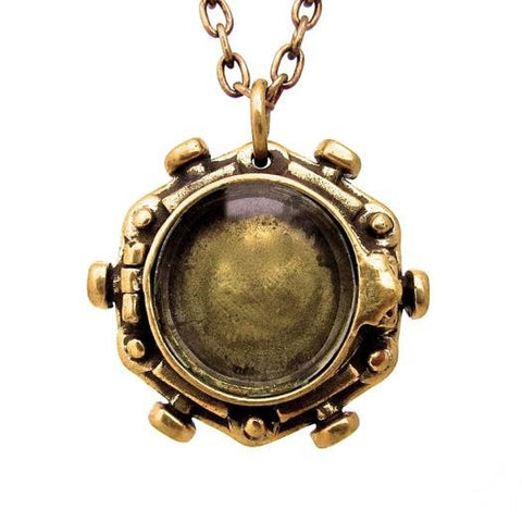 Porthole Locket - brass