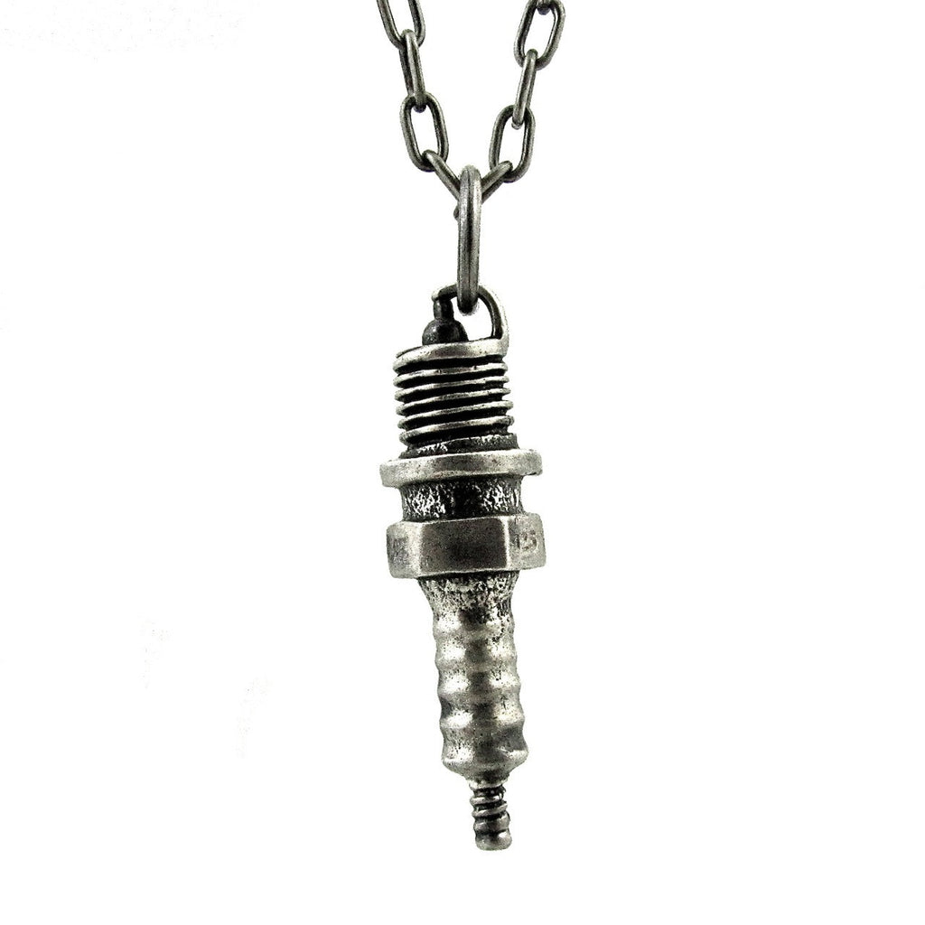 Custom Designer Spark Plug in Rock Star Sterling Silver by Dax Savage Jewelry