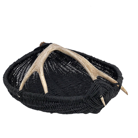 Custom Deer Antler Basket A16 - Large/Black