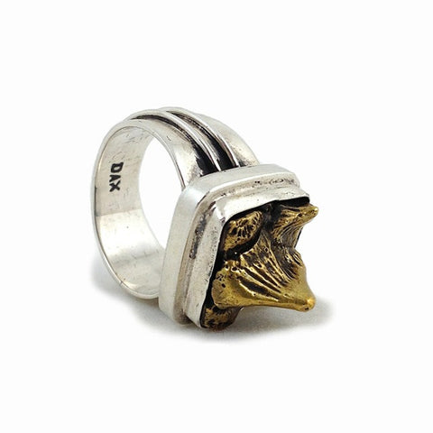 Stingray Spine Cluster Ring - brass/silver - small