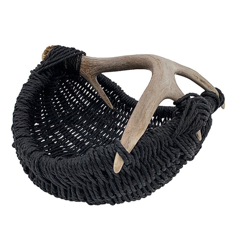 Custom Deer Antler Basket A14 - small/black