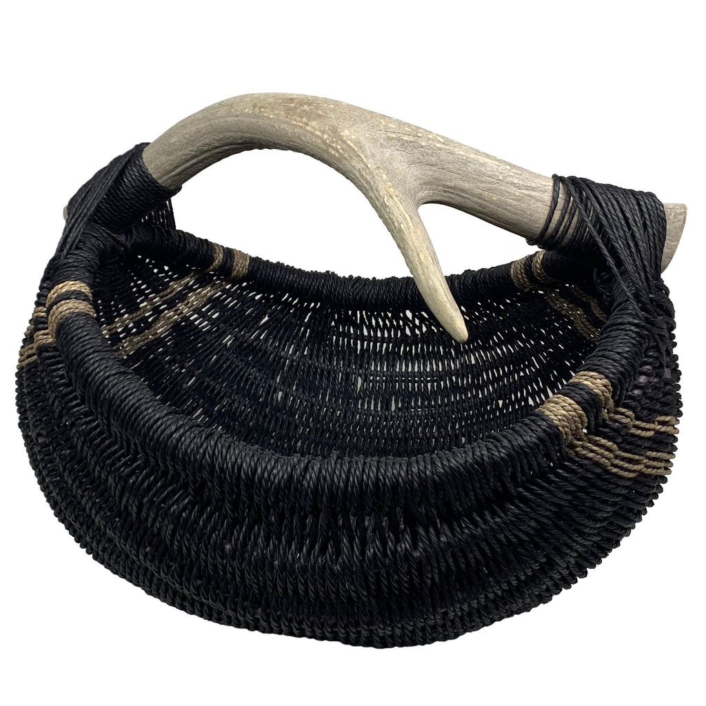 Custom Elk Antler Basket handmade by Los Angeles based Artist, Dax Savage.