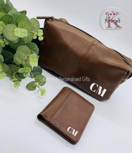 Load image into Gallery viewer, Brown PU Leather Wash Bag