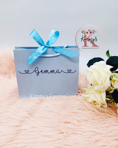 Large Blue Gift Bag with Bow