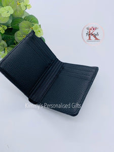 Black PU Leather Wallet