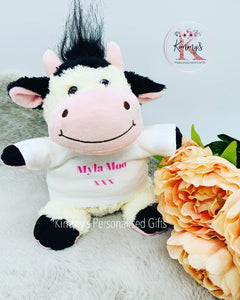 Personalised Cow Teddy
