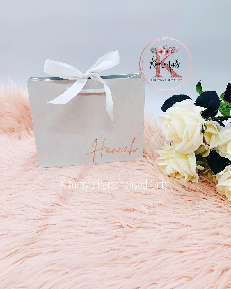 Large White Gift Bag with Bow