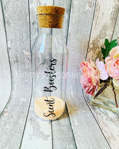 Scent Booster Bottle, Cork Bottle, Personalised Cork Bottle